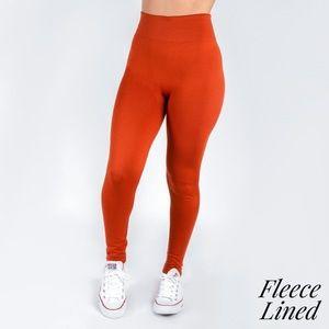 Womens Rust OS Fleece Legging